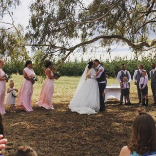 Another gorgeous bride and groom enjoy their special day at the Canobolas Dance Hall with their ceremony outside under the two old gum trees, with the Apple orchard in the background. If you've got a wedding, party or anything to celebrate this year, we have just the place for you! #countryweddings #canobolasdancehall BiteRiot #communityhall #givemeawifeamongthegumtrees